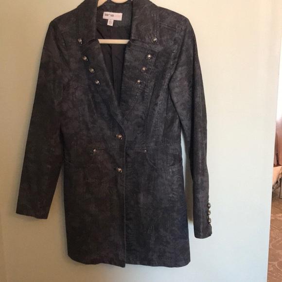 lanalee denim tunic jacket/blazer